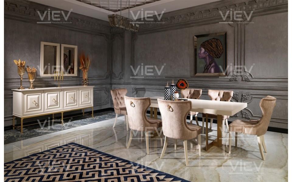 Grace Krem Luxury Yemek Odası