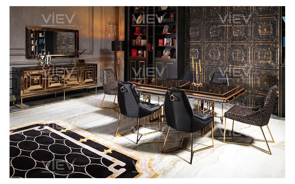 Gucci Black & Gold Yemek Odası