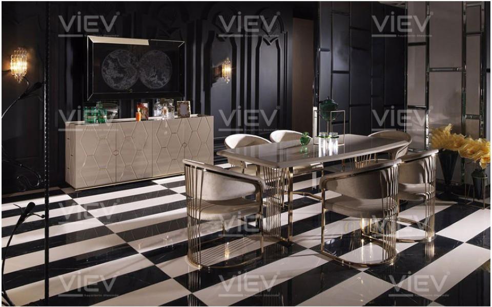 Prag Luxury Yemek Odası Takımı