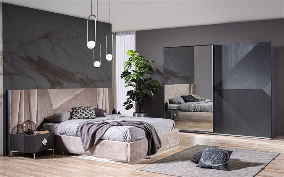 Gizz Yatak Odası Takımı Gri