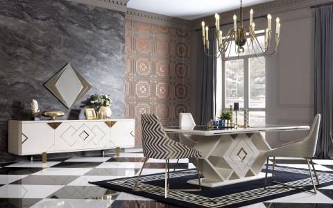 Versace Luxury Yemek Odası Takımı