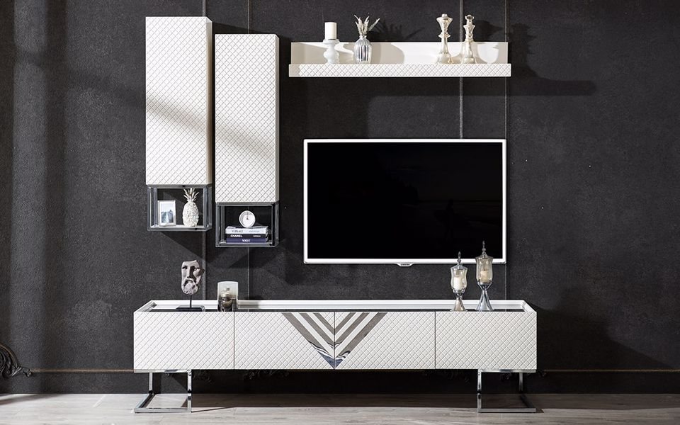 Versace Vip Tv Ünitesi Beyaz