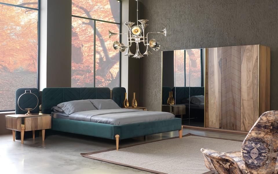 Boston Luxury Ceviz Yatak Odası Takımı