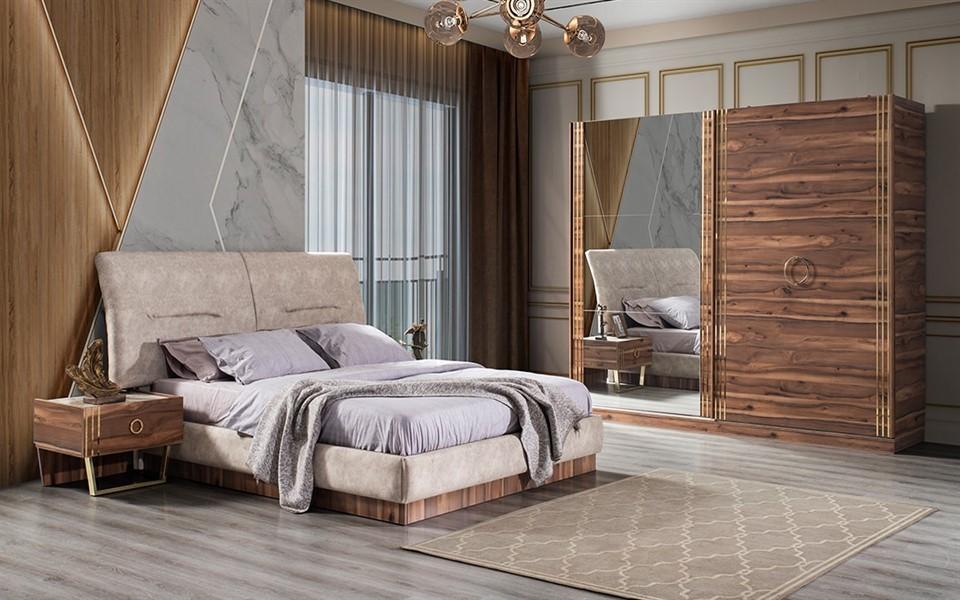 Holly Ceviz Yatak Odası Takımı