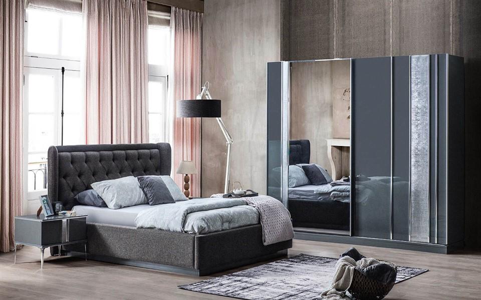 Lotus Antrasit Yatak Odası Takımı