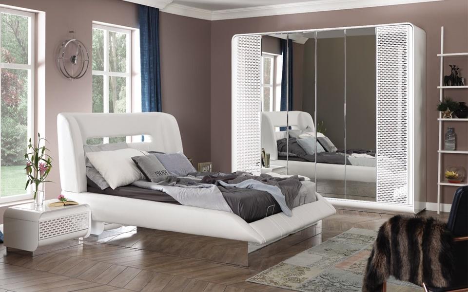 Boyabat Beyaz Yatak Odası Takımı