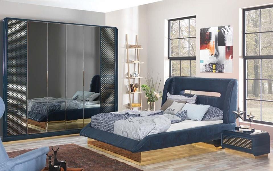 Boyabat Mavi Yatak Odası Takımı