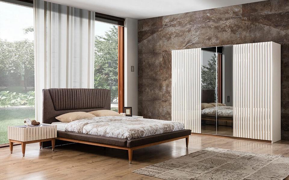 Prada Modern Krem Yatak Odası Takımı