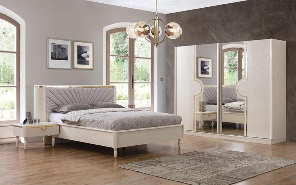 Carol Beyaz Yatak Odası Takımı