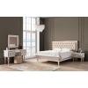 Çırağan Art Deco Beyaz Yatak Odası Takımı