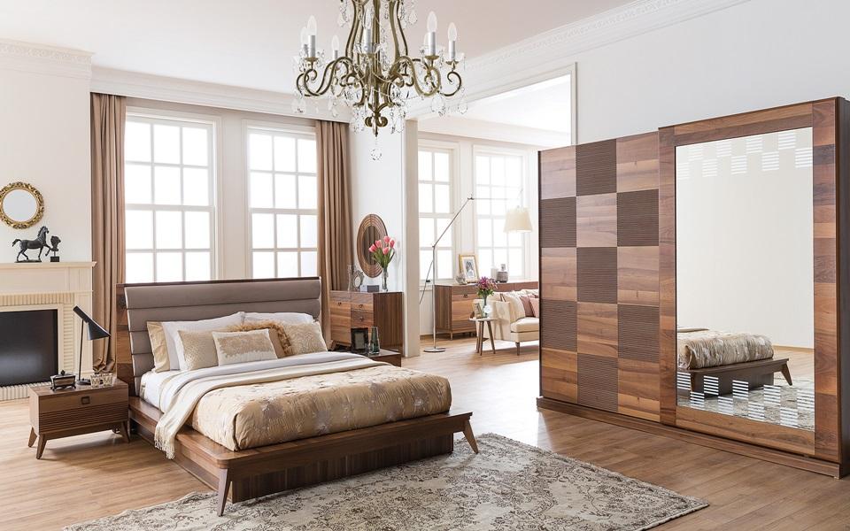 Almoda Ceviz Yatak Odası