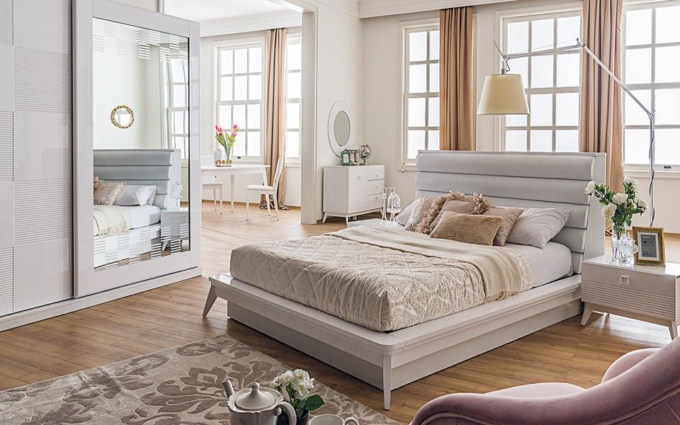 Almoda Beyaz Yatak Odası
