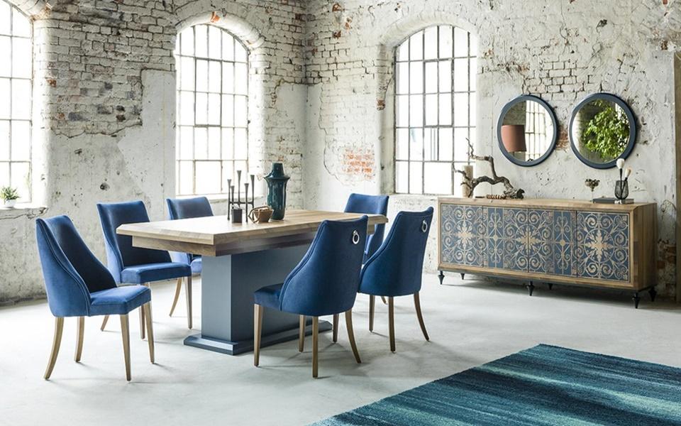 Dream Mavi Yemek Odası Takımı