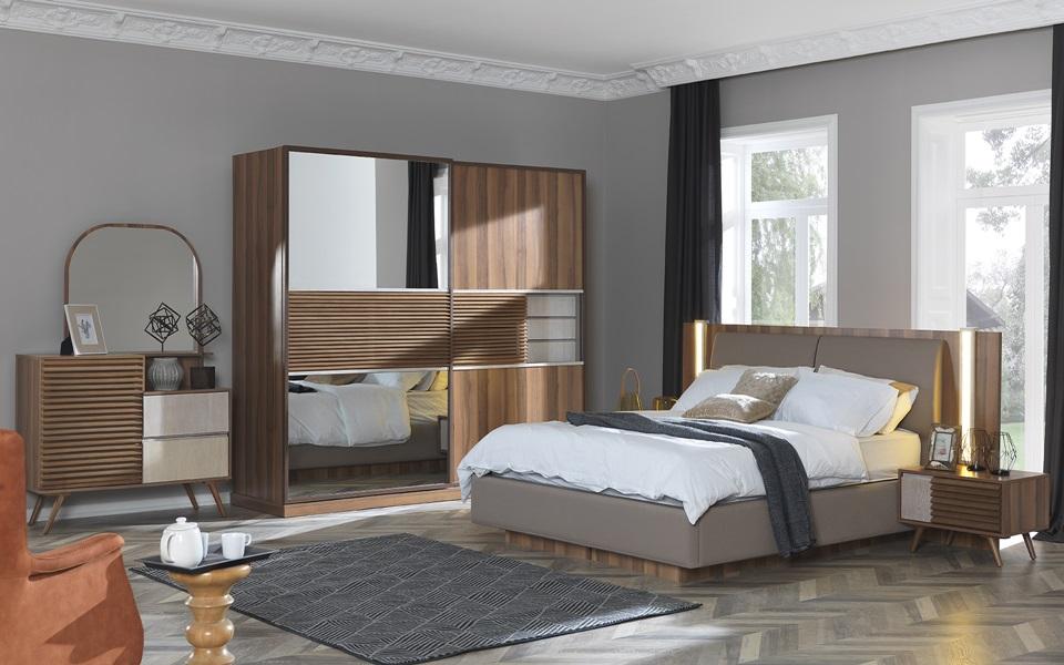 Cumba Ceviz Yatak Odası