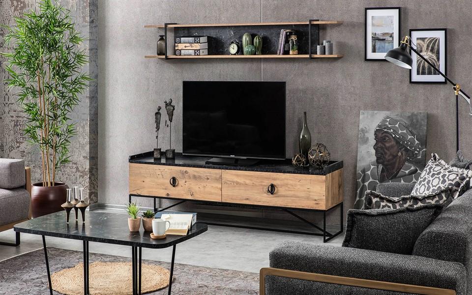 Loft Metal Tv Ünitesi