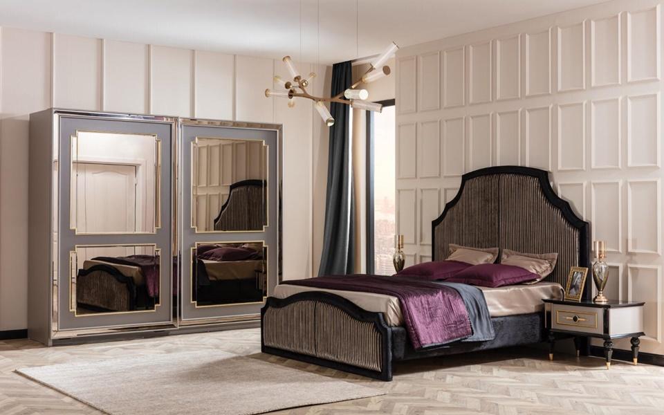 Retro Lüks Yatak Odası
